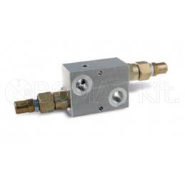 Pressure relief valve, double