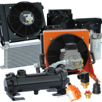 Heat exchangers, coolers and fan drive