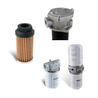 Low pressure (suction- / return- / pilot line) filters, cartridges, accessories