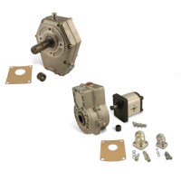 Gearboxes and support bearings for gear pumps